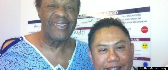 Marion Barry Thanks a Filipino Nurse