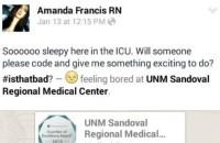 UNM Sandoval Nurse fired