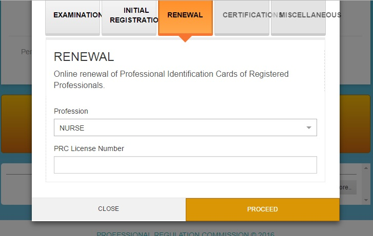 how to renew prc license number for nurses